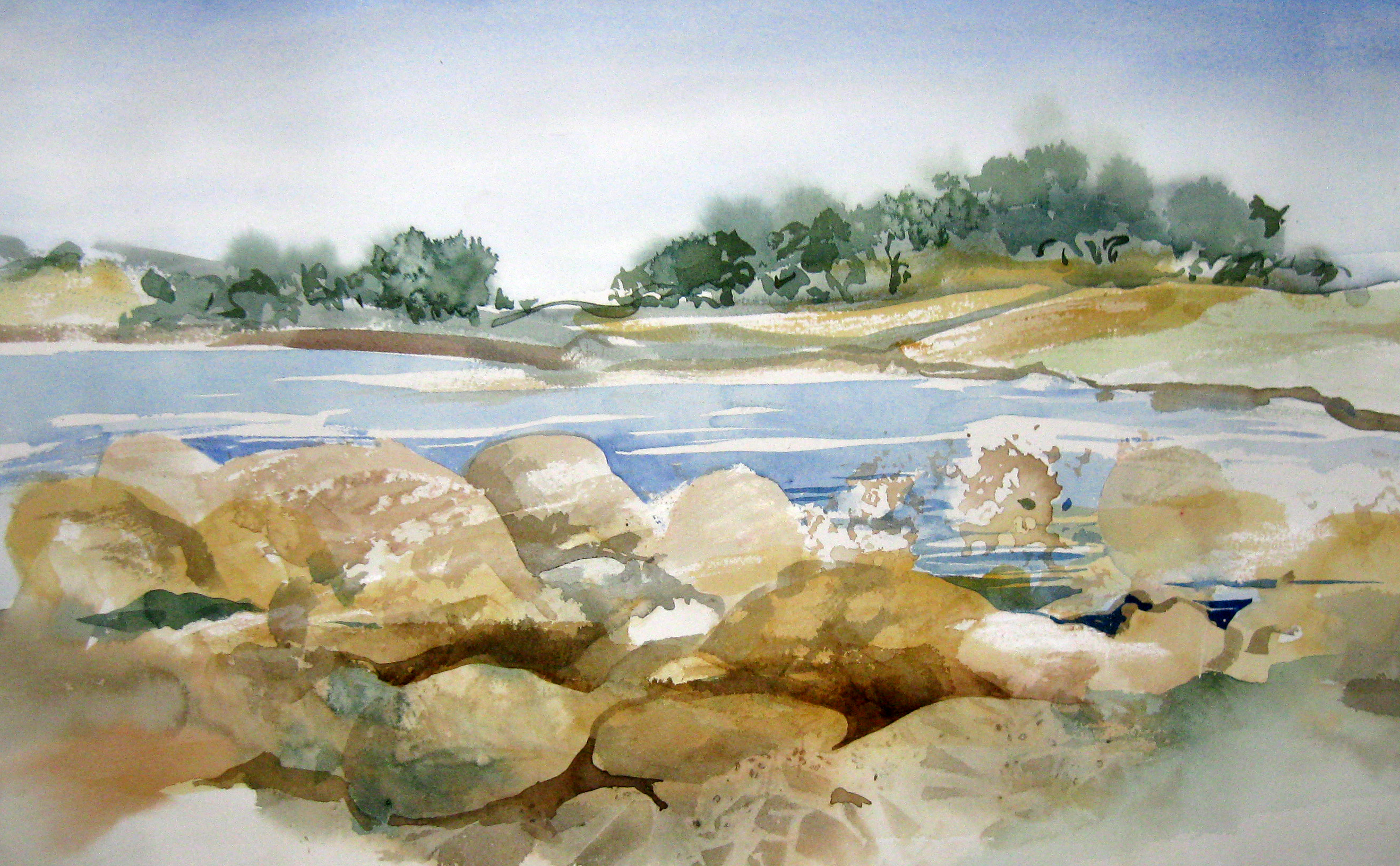 watercolor landscape artist and art therapy