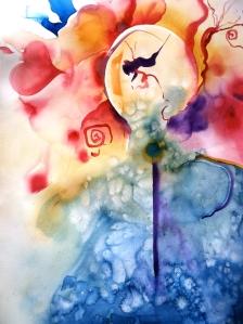 Watercolor Interpretation of  a Dreamlike Experience