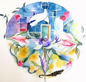 Personal Mandala Watercolor by Amy Hautman Bates